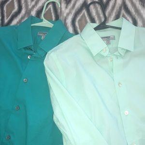2 Express Men's Fitted Dress Shirts